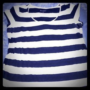 Old Navy Blue & White Striped Shirt